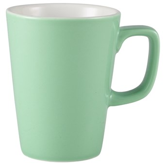 Green Royal Genware Porcelain Latte Mug - 340ml