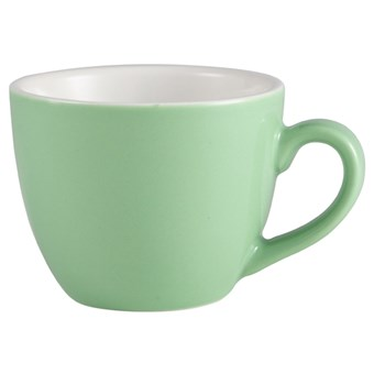 Green Royal Genware Porcelain Bowl Shaped Cup - 175ml