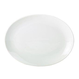Royal Genware 31cm Porcelain Oval Plate