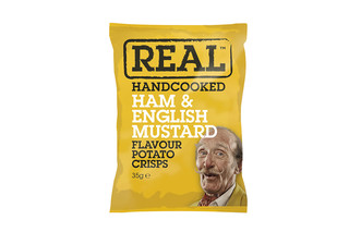 Real Hand Cooked Ham & English Mustard Flavour Potato Crisps