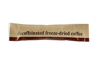 Freeze Dried Decaffeinated Instant Coffee Sticks