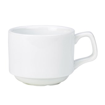 Royal Genware Porcelain Stacking Cup 200ml