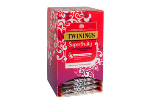 Twinings Superfruity Large Leaf Mesh Envelope Tagged Teabags