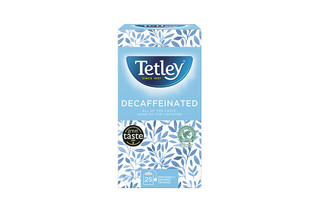 Tetley Decaf String & Tag envelope