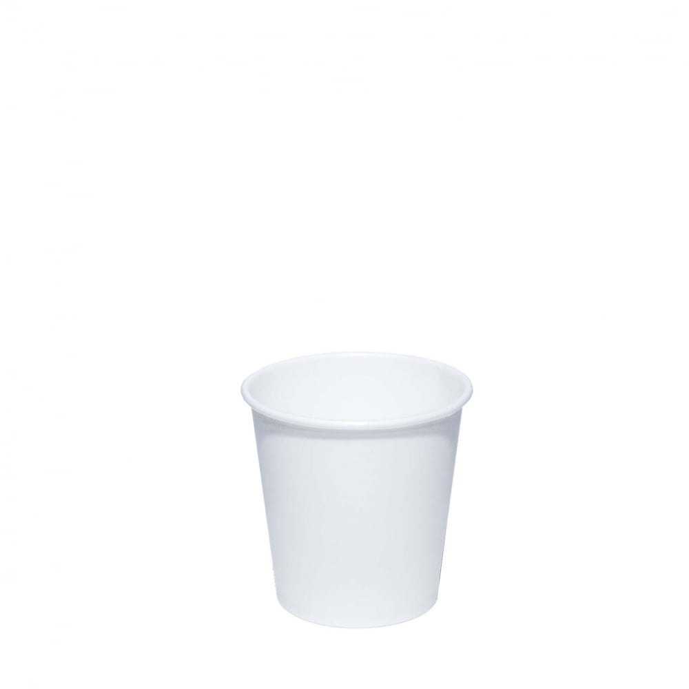 4oz White Paper Cup - Single Wall
