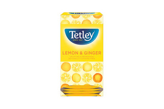 Tetley Lemon & Ginger String Tag Tea Bag
