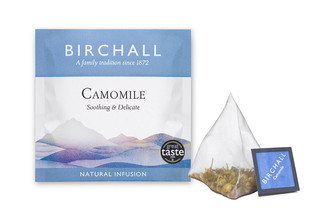 Birchall Camomile Enveloped Mesh Pyramid Tea Bags