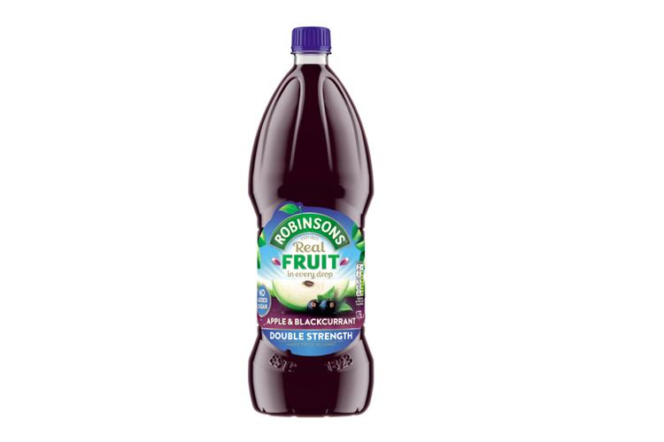 Robinsons No Added Sugar Double Strength Apple & Blackcurrant 1.75L