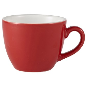 Red Royal Genware Porcelain Bowl Shaped Cup - 250ml