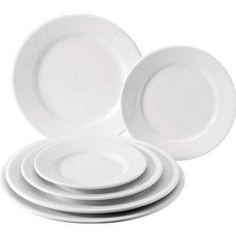 Utopia Pure White Wide Rim Plate- 20.25cm